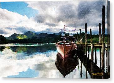 Canvas Print featuring the painting Docked by Wayne Pascall