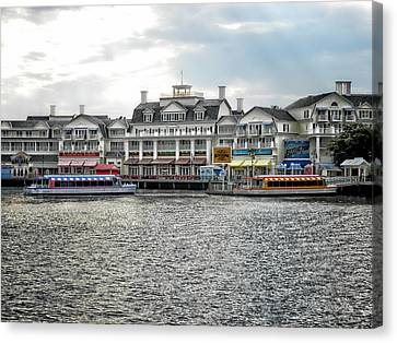 Docking At The Boardwalk Walt Disney World Canvas Print