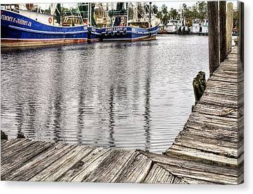Docks Of Bayou La Batre Canvas Print