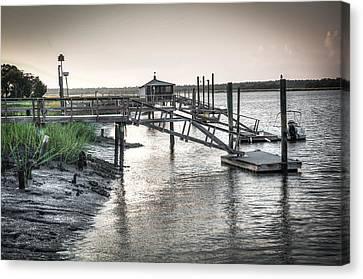 Docks Of The Bull River Canvas Print by Scott Hansen