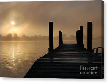 Dockside And A Good Morning Canvas Print by Randy J Heath