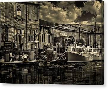 Dockside  Canvas Print by Bob Orsillo