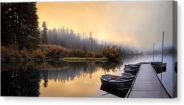 Dockside Sunrise Canvas Print by Joel Zak