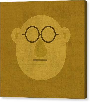 Doctor Bunson Honeydew Vintage Minimalistic Illustration On Worn Distressed Canvas Series No 004 Canvas Print by Design Turnpike