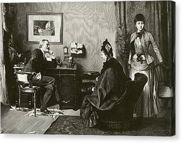 Doctor Consultation Canvas Print by National Library Of Medicine
