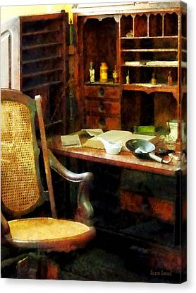 Canvas Print featuring the photograph Doctor - Doctor's Office by Susan Savad