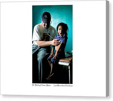 Doctor Examines Honduran Girl Canvas Print