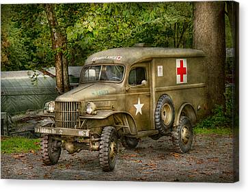Blending Canvas Print - Doctor - Mash Unit  by Mike Savad