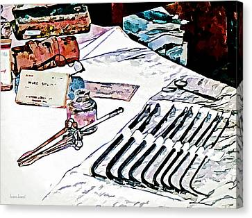 Canvas Print featuring the photograph Doctor - Medical Instruments by Susan Savad