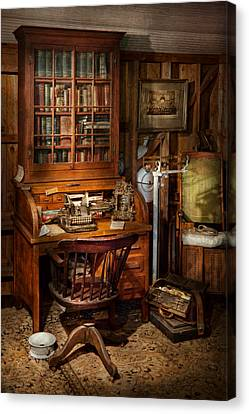 Doctor - My Tiny Little Office Canvas Print by Mike Savad