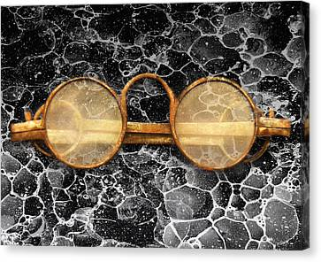 Marble Eyes Canvas Print - Doctor - Optometrist - Glasses Sold Here  by Mike Savad