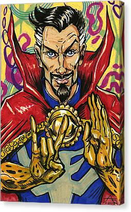 Doctor Strange Canvas Print by John Ashton Golden
