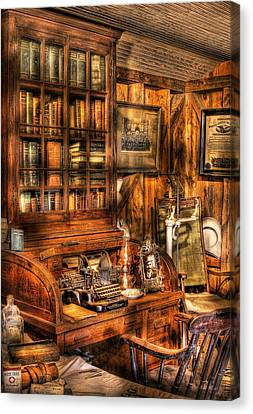 Doctor - The Doctors Desk Canvas Print by Mike Savad