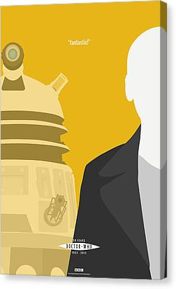 Doctor Who 50th Anniversary Poster Set Nineth Doctor Canvas Print by Jeff Bell