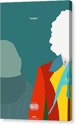 Doctor Who 50th Anniversary Poster Set Sixth Doctor Canvas Print by Jeff Bell