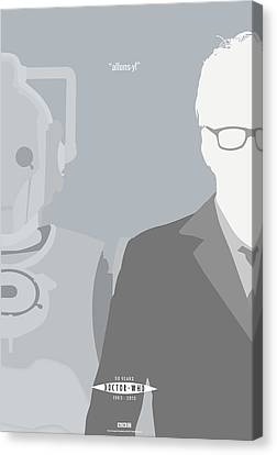 Black Tie Canvas Print - Doctor Who 50th Anniversary Poster Set Tenth Doctor by Jeff Bell