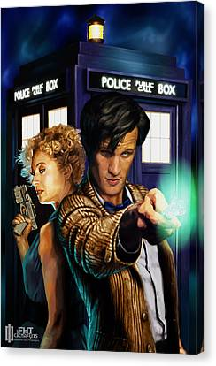 Doctor Who Canvas Print by FHT Designs