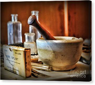 Doctor - Wire Splint And Mortar Canvas Print by Paul Ward