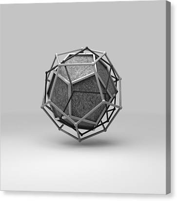 Cryptic Canvas Print - Dodecahedron Trine by Par Thorbjornsson