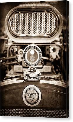 Dodge Brothers Moto Meter - Emblem Canvas Print by Jill Reger