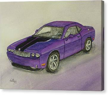 Dodge Challenger 2010 Canvas Print by Kelly Mills