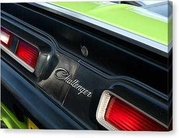 Dodge Challenger 440 Magnum Rt Taillight Emblem Canvas Print