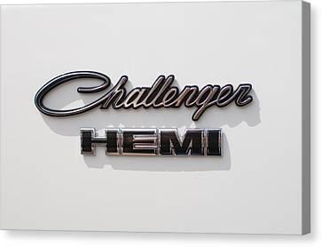 Dodge Challenger Hemi Emblem Canvas Print by Jill Reger