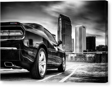 Dodge Challenger Tampa Skyline  Canvas Print