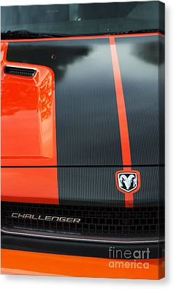 Front End Canvas Print - Dodge Challenger by Tim Gainey