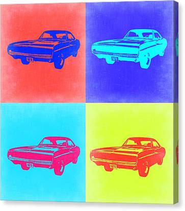 Dodge Charger Pop Art 1 Canvas Print by Naxart Studio