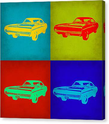 Dodge Charger Pop Art 2 Canvas Print by Naxart Studio