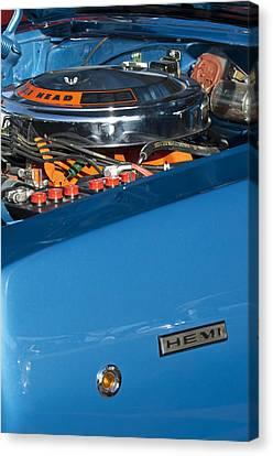 Dodge Coronet 426 Hemi Head Engine Canvas Print by Jill Reger