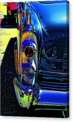 Dodge Royal Lancer Blue Pop Art Canvas Print by Lesa Fine