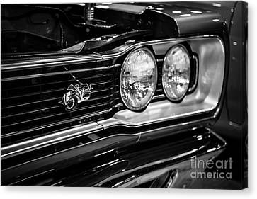 Dodge Super Bee Black And White Canvas Print by Paul Velgos