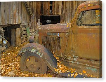 Dodge Truck Autumn Abstract Canvas Print by Dan Sproul