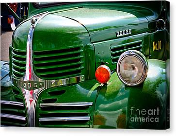Dodge Truck Canvas Print by Les Palenik