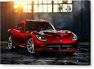 Dodge Viper Canvas Print by Movie Poster Prints