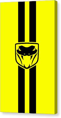 Dodge Viper Yellow Phone Case Canvas Print by Mark Rogan
