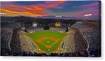National League Canvas Print - Dodger Stadium by Kevin D Haley
