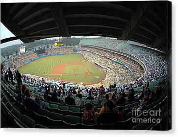 Dodger Stadium Canvas Print by Micah May