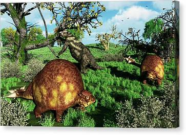 Doedicurus Mammals Canvas Print by Walter Myers