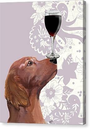 Dog Au Vin Canvas Print by Kelly McLaughlan
