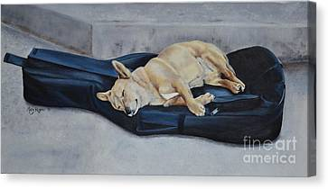 Dog Day Afternoon Canvas Print by Mary Rogers