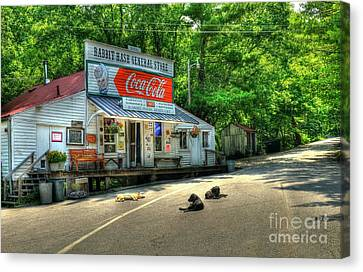 Benches Canvas Print - Dog Day Afternoon by Mel Steinhauer