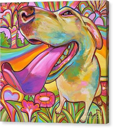 Canvas Print featuring the painting Dog Daze Of Summer by Robert Phelps