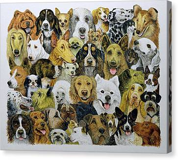 Breed Of Dog Canvas Print - Dog Friends  by Pat Scott