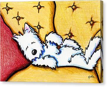 Dog Napped Canvas Print by Kim Niles