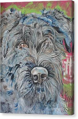 Dog Of Flanders The Bouvier Canvas Print by PainterArtist FIN