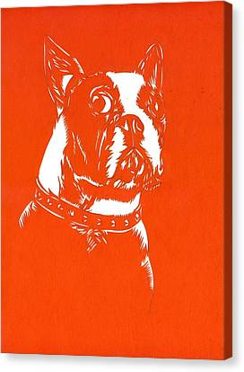Bulls Canvas Print - Dog Paper Cut by Alfred Ng