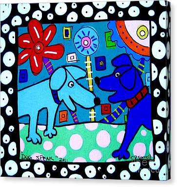 Dog Speak Canvas Print by Susan Sorrell